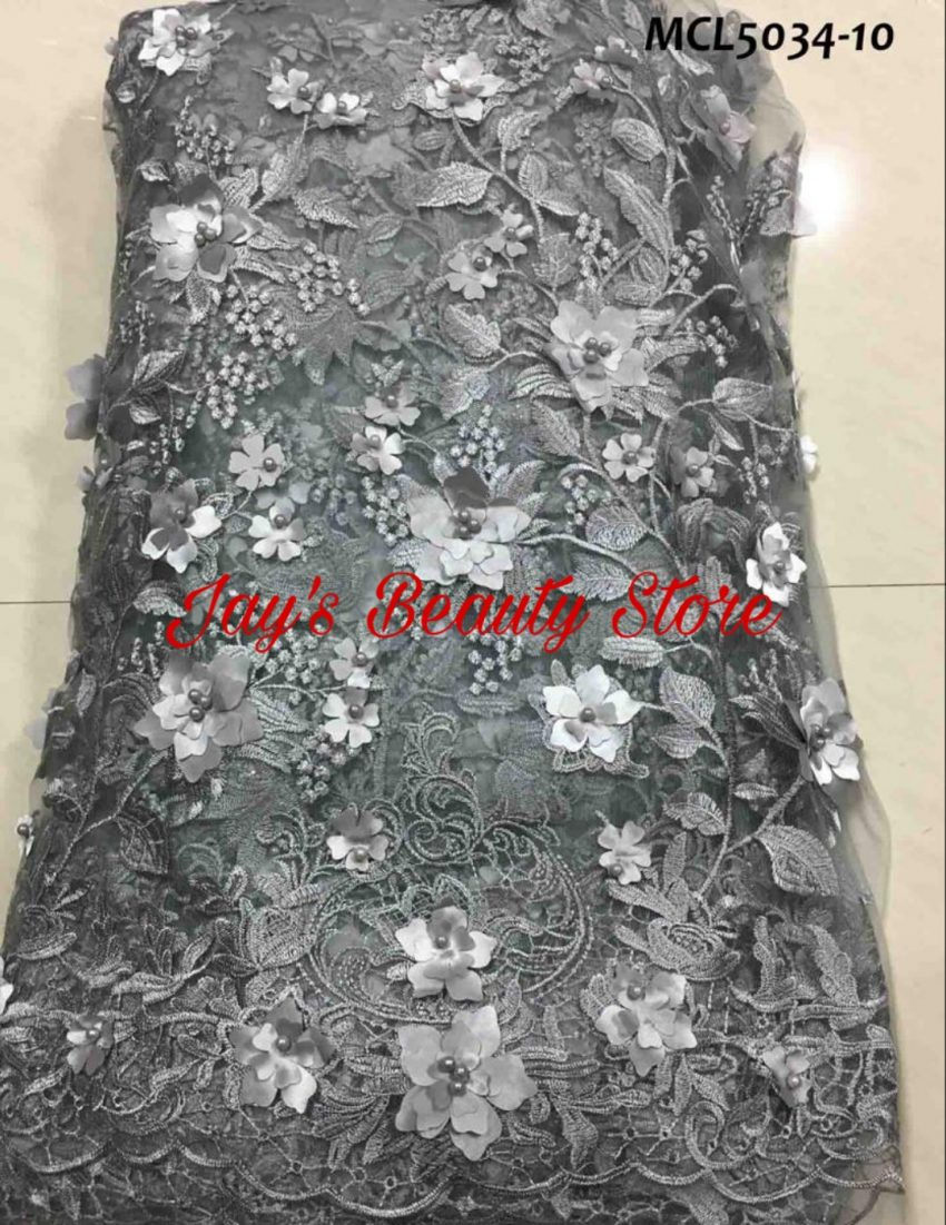 Grey Lace Fabric